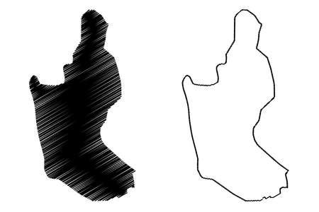 Sanaa City (Republic of Yemen) map vector illustration, scribble sketch City of Sana map Illustration