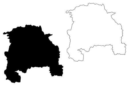 Sorocaba City and Municipality (Federative Republic of Brazil, Sao Paulo State) map vector illustration, scribble sketch City of Sorocaba map Illustration