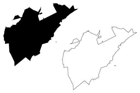 Boa Vista City (Federative Republic of Brazil, Roraima State) map vector illustration, scribble sketch City of Boa Vista map