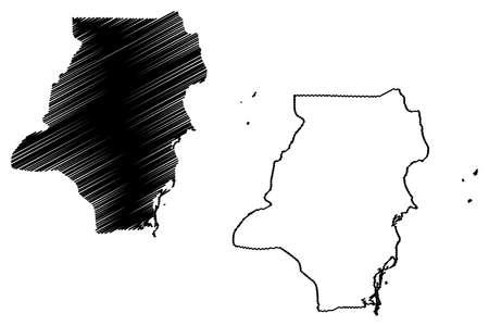 Stann Creek District (Belize, Districts of Belize) map vector illustration, scribble sketch Stann Creek map
