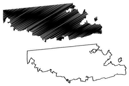 Tijuana City (United Mexican States, Mexico, Baja California state) map vector illustration, scribble sketch City of Tijuana map Ilustración de vector