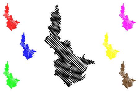 Shizuoka City (State of Japan, island country, Chubu region) map vector illustration, scribble sketch City of Shizuoka map Illusztráció