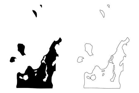 Leelanau County, Michigan (US county, United States of America, USA, US, US) map vector illustration, scribble sketch Leelanau map
