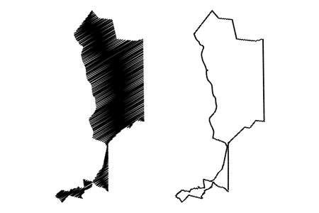 Teresina City (Federative Republic of Brazil, Piaui State) map vector illustration, scribble sketch City of Teresina map Иллюстрация