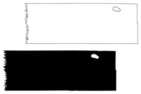 Marshall County, Minnesota (US county, United States of America, USA, US, US) map vector illustration, scribble sketch Marshall map Иллюстрация