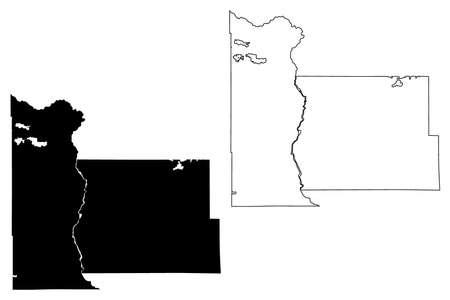 Morrison County, Minnesota (US county, United States of America, USA, US, US) map vector illustration, scribble sketch Morrison map Иллюстрация