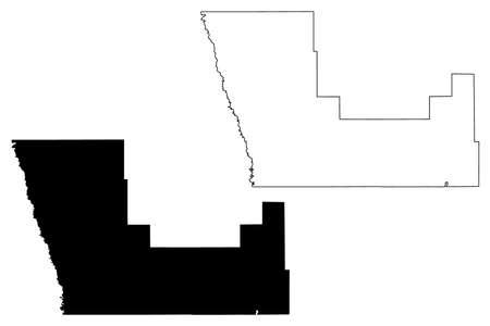 Polk County, Minnesota (US county, United States of America, USA, US, US) map vector illustration, scribble sketch Polk map