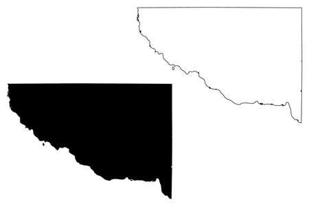 Sherburne County, Minnesota (US county, United States of America, USA, US, US) map vector illustration, scribble sketch Sherburne map Иллюстрация