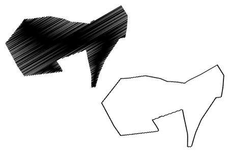 Chiclayo City (Republic of Peru, Department of Lambayeque) map vector illustration, scribble sketch City of Santa María de los Valles de Chiclayo map Иллюстрация