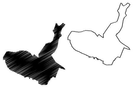 Maracay City (Bolivarian Republic of Venezuela, Aragua State) map vector illustration, scribble sketch City of Maracay map