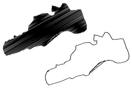 Barquisimeto City (Bolivarian Republic of Venezuela, Lara State) map vector illustration, scribble sketch City of Barquisimeto map Иллюстрация