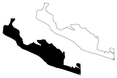 Monrovia City (Republic of Liberia, Montserrado County) map vector illustration, scribble sketch City of Monrovia map