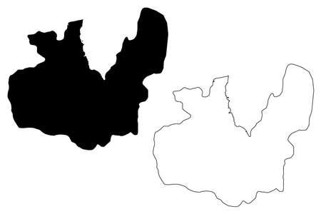 Maseru City (Kingdom of Lesotho, capital city) map vector illustration, scribble sketch City of Maseru map