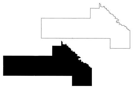 Yellow Medicine County, Minnesota (US county, United States of America, USA, US, US) map vector illustration, scribble sketch Yellow Medicine map Иллюстрация