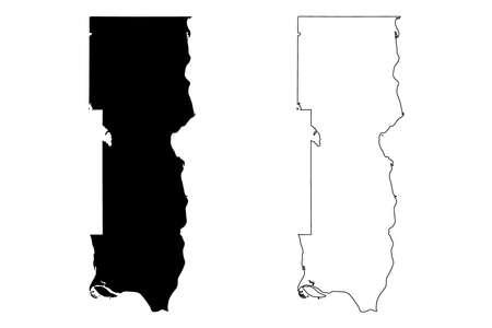Washington County, Minnesota (US county, United States of America, USA, US, US) map vector illustration, scribble sketch Washington map Иллюстрация