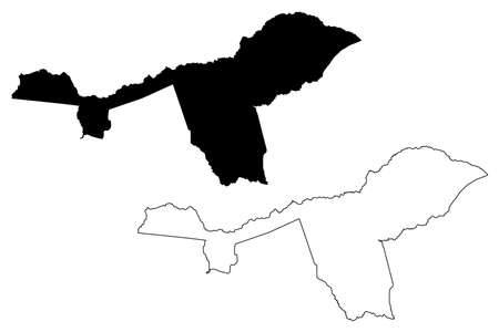 Isiolo County (Republic of Kenya, Eastern Province) map vector illustration, scribble sketch Isiolo map