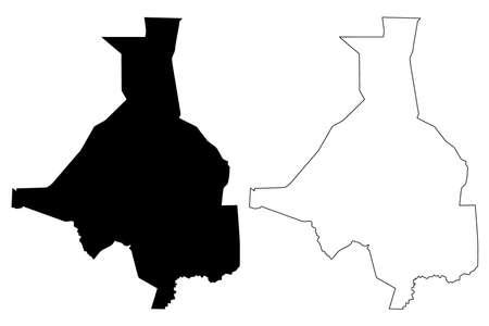 Upper Nile state (States of South Sudan, Greater Upper Nile Region) map vector illustration, scribble sketch Upper Nile map