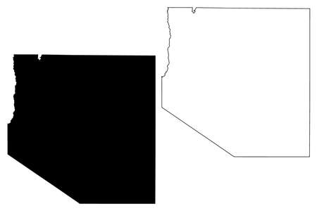 White Pine County, Nevada (US county, United States of America, USA, US, US) map vector illustration, scribble sketch White Pine map  イラスト・ベクター素材