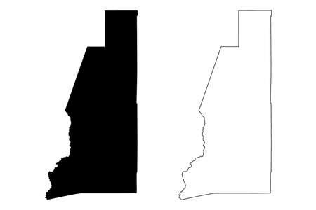 Lander County, Nevada (US county, United States of America, USA, US, US) map vector illustration, scribble sketch Lander map