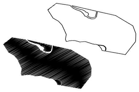 Kisangani City (Democratic Republic of the Congo, Congo-Kinshasa, Zaire, DR Congo, Tshopo Province) map vector illustration, scribble sketch City of Stanleyville or Stanleystad map