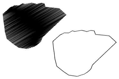 Galkayo City (Federal Republic of Somalia, Mudug Region) map vector illustration, scribble sketch City of Gallacaio or Rocca Littorio map 矢量图像