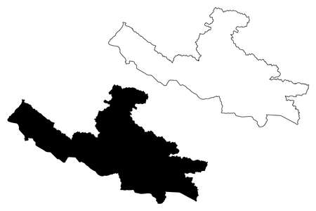 Lumbini Province (Federal Democratic Republic of Nepal, Administrative divisions) map vector illustration, scribble sketch Province No. 5 map