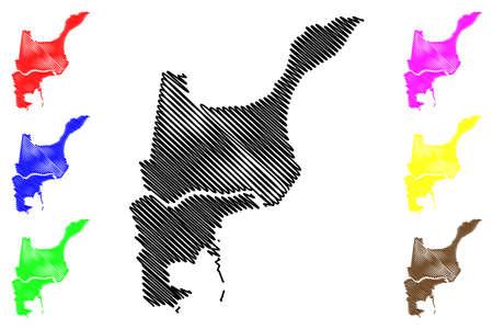 St. John the Baptist County, Louisiana (US county, United States of America, USA, US, US) map vector illustration, scribble sketch Saint John the Baptist Parish map