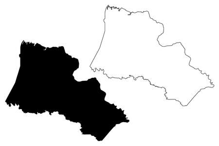 Halifax County, North Carolina State (US county, United States of America, USA, US, US) map vector illustration, scribble sketch Halifax map Illusztráció