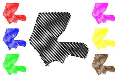 Mekelle City (Federal Democratic Republic of Ethiopia, Tigray Region) map vector illustration, scribble sketch City of Mekele map  イラスト・ベクター素材