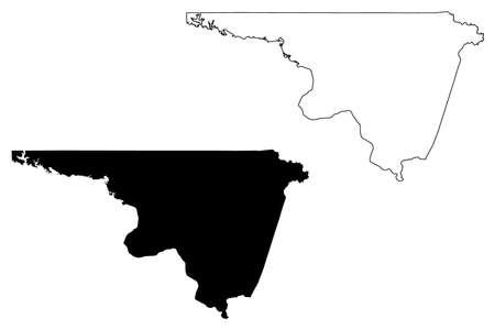 Northampton County, North Carolina State (US county, United States of America, USA, US, US) map vector illustration, scribble sketch Northampton map