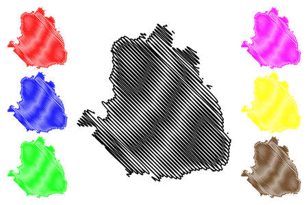 Tamale City (Republic of Ghana, Northern Region) map vector illustration, scribble sketch City of Tamale map  イラスト・ベクター素材