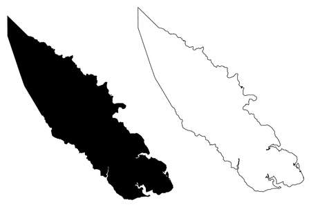 Pasquotank County, North Carolina State (US county, United States of America, USA, US, US) map vector illustration, scribble sketch Pasquotank map Illusztráció