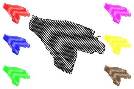 Misrata City (State of Libya, Tripolitania Region) map vector illustration, scribble sketch City of Misurata or Misratah map