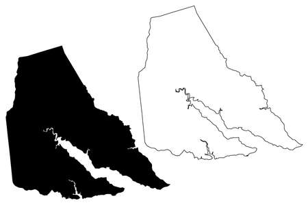 Perquimans County, North Carolina State (US county, United States of America, USA, US, US) map vector illustration, scribble sketch Perquimans map Illusztráció