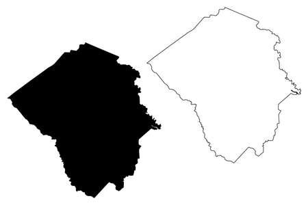Pitt County, North Carolina State (US county, United States of America, USA, US, US) map vector illustration, scribble sketch Pitt map Illusztráció