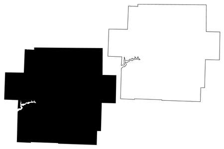 Carroll County, Ohio State (US county, United States of America, USA, US, US) map vector illustration, scribble sketch Carroll map