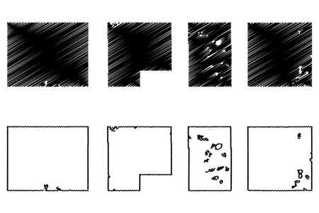 Kandiyohi, McLeod, Martin and Mahnomen County, Minnesota (US county, United States of America, USA, US, US) map vector illustration, scribble sketch map