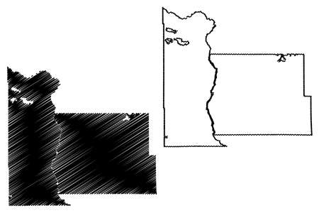 Morrison County, Minnesota (US county, United States of America, USA, US, US) map vector illustration, scribble sketch Morrison map 矢量图像