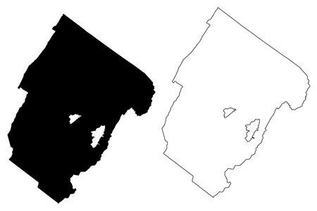Rockbridge County, Commonwealth of Virginia (US county, United States of America, USA, US, US) map vector illustration, scribble sketch Rockbridge map