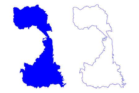 Vercelli province (Italy, Italian Republic, Piedmont region) map vector illustration, scribble sketch Province of Vercelli map