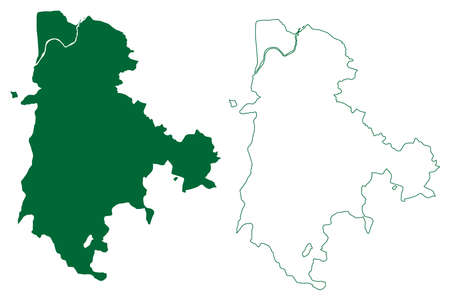 Dantewada district (Chhattisgarh State, Bastar division, Republic of India) map vector illustration, scribble sketch Dantewara, Dakshin Bastar or South Bastar map