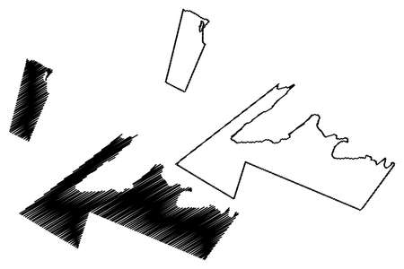 Vaa-o-Fonoti District, Upolu island (Independent State of Samoa, Western Samoa) map vector illustration, scribble sketch Va'a-o-Fonoti map Ilustração