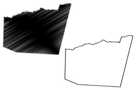 Gagaifomauga District, Savaii island (Independent State of Samoa, Western Samoa) map vector illustration, scribble sketch Gaga'ifomauga map Ilustração
