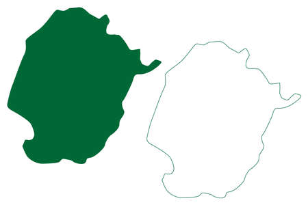 Raipur district (Chhattisgarh State, division, Republic of India) map vector illustration, scribble sketch Raipur map