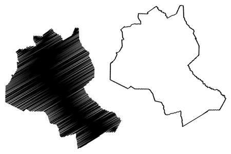 Lee County, State of South Carolina (US county, United States of America, USA, US, US) map vector illustration, scribble sketch Lee map Ilustração