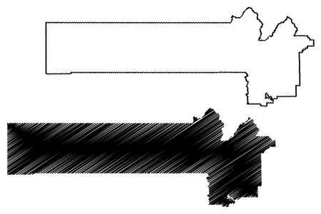 Juab County, State of Utah (US county, United States of America, USA, US, US) map vector illustration, scribble sketch Juab map Иллюстрация
