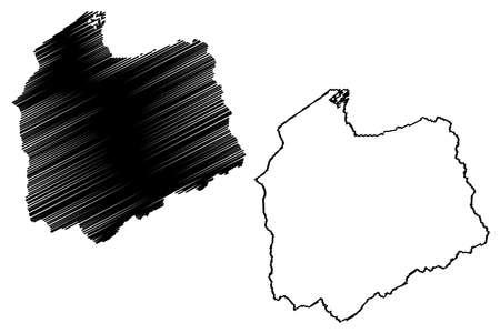Salt Lake County, State of Utah (US county, United States of America, USA, US, US) map vector illustration, scribble sketch Salt Lake map