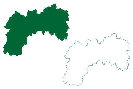 Latehar district (Jharkhand State, Republic of India, Palamu division) map vector illustration, scribble sketch Latehar map