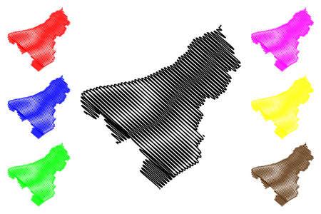 Northampton County, Commonwealth of Pennsylvania (US county, United States of America, USA, US, US) map vector illustration, scribble sketch Northampton map 矢量图像