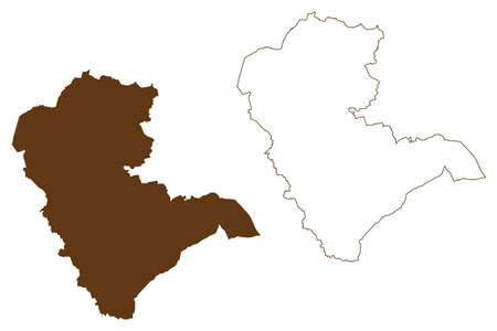 Gutersloh district (Federal Republic of Germany, State of North Rhine-Westphalia, NRW, Detmold region) map vector illustration, scribble sketch Gutersloh map 矢量图像